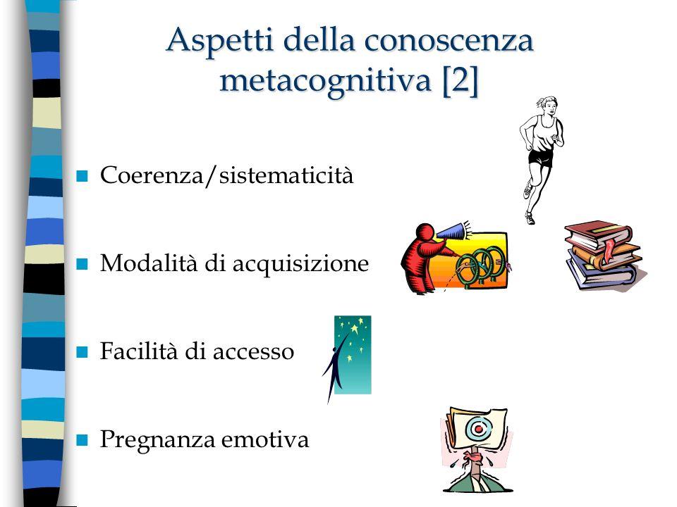 Aspetti della conoscenza metacognitiva [2]